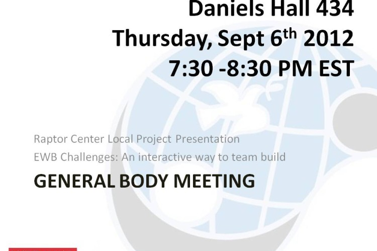 General Body Meeting online flyer